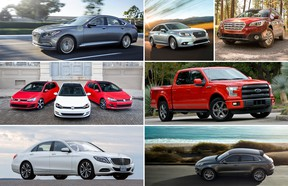 The finalists for this year's AJAC Canadian Car and Utility Vehicle of the Year awards. The winners will be announced at the Canadian International Auto Show in February.