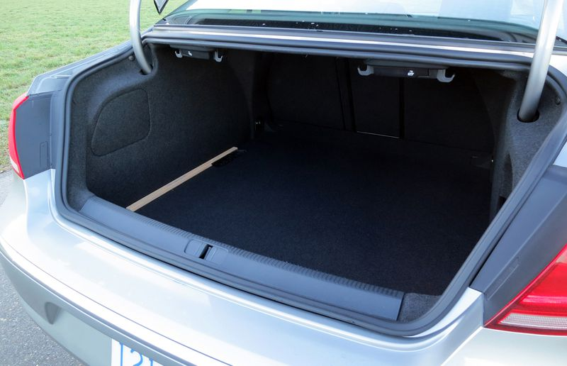 The CCs trunk will accommodate up to 374- litres of cargo, and the rear seat backs fold forward to accommodate larger items.