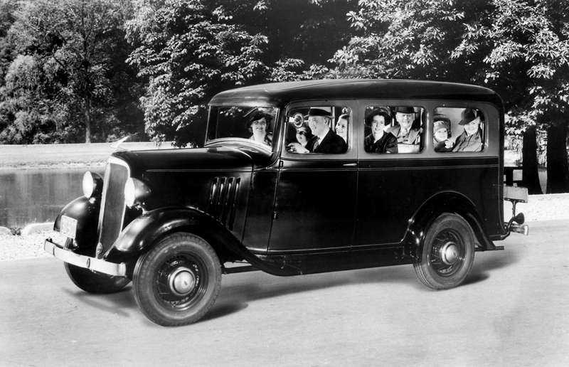 The original 1935 Chevrolet Suburban Carryall.