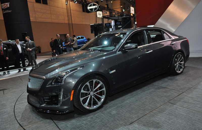 Cadillac CTS V at the Canadian International Auto Show.