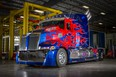 Optimus Prime, from the film Transformers: Age of Extinction , is a truck built on a Western Star 5700 series cab and chassis. The truck is making its only Canadian auto show appearance in Calgary at the International Auto & Truck Show March 11 to 15.