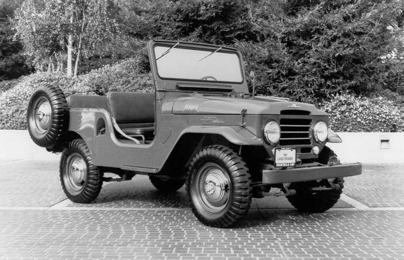 Once again, like the Land Rover Series 1, the Toyota Land Cruiser drew inspiration from the original Willys Jeep.