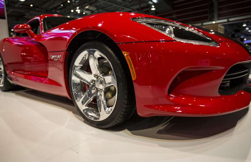 The Dodge Viper GT on display at the 2015 International Auto and Truck Show at the BMO Centre in Calgary, on March 10, 2015.