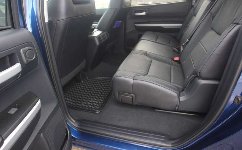 The rear seats of the Tundra CrewMax.
