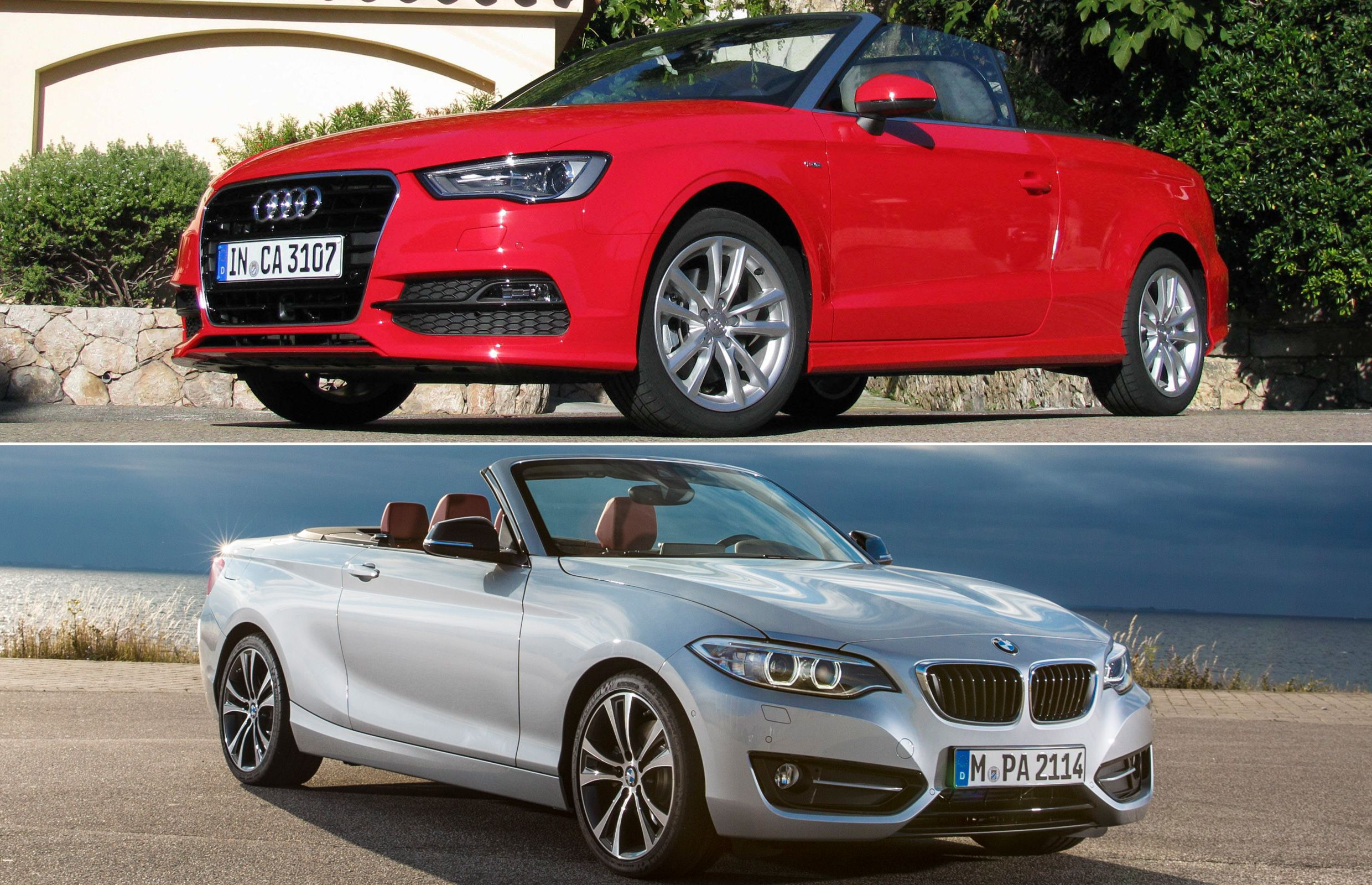 Audi A3 and BMW 2 Series