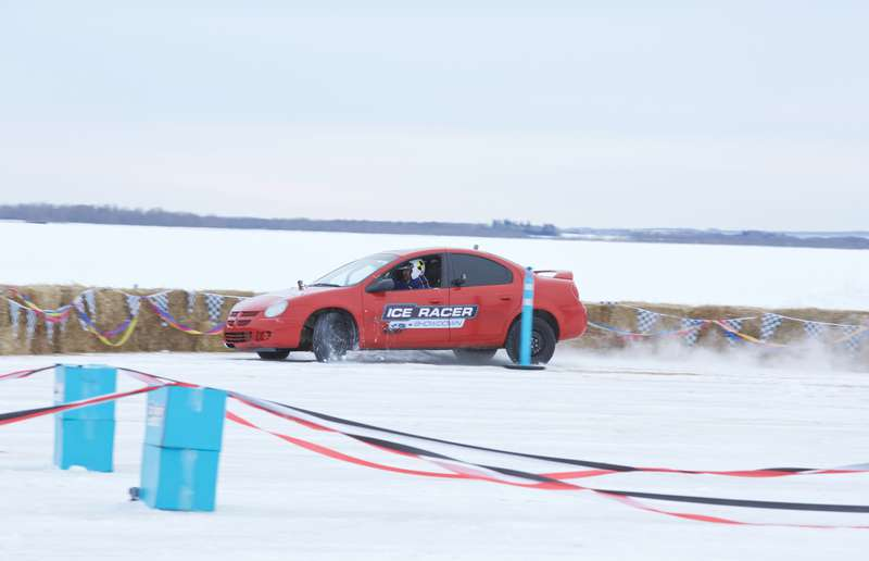 Ice Racer Challenge was filmed in Alberta on Red Deer Lake, a frozen body of water between Ponoka and Wetaskiwin, and 12 one-hour episodes will air later this year on CMT.