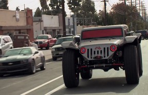 What is this? A post apocalyptic Jeep rover?