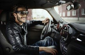 Mini's newest take on driving goggles give drivers an all-round view of what's going on outside their car.