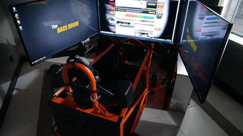 The simulator can be set up to replicate the driving experience of some 44 different cars from NASCAR to open wheel formula vehicles.
