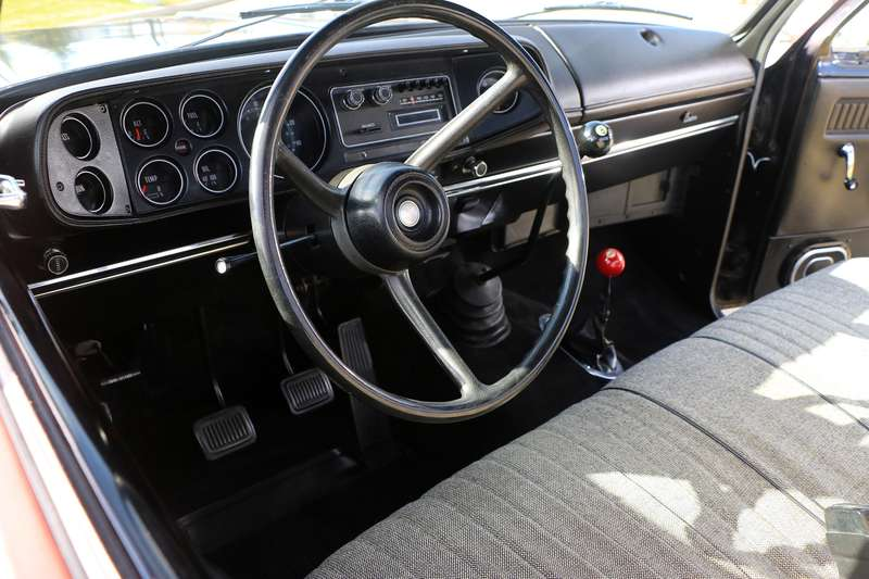 The interior of the Power Wagon.
