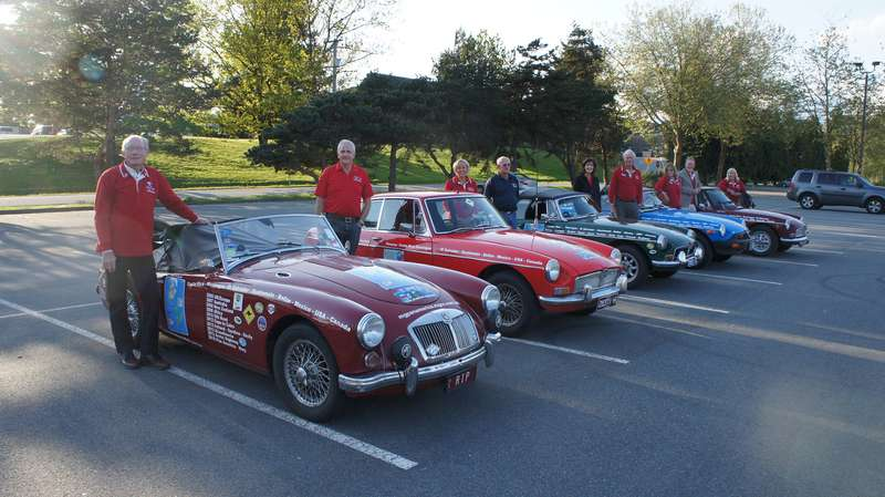 Dave Godwin led a group of five MG sports cars that traveled 31,000 kilometres from the tip of South American ending in Vancouver.