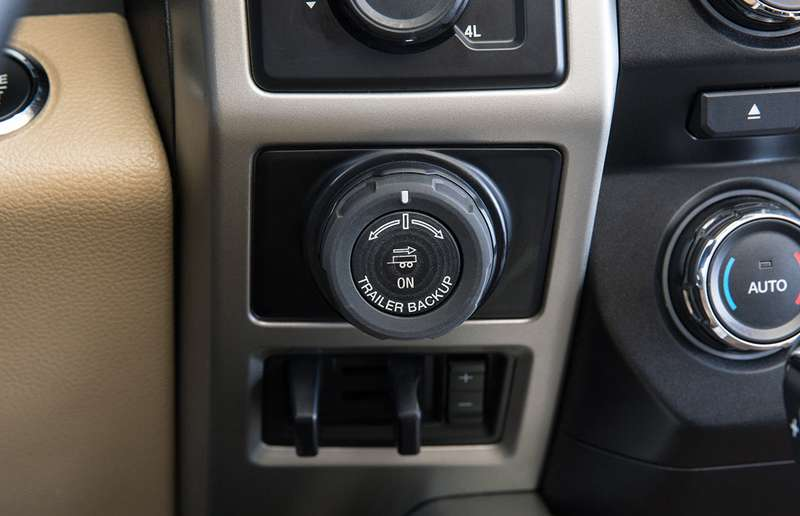 Pro Trailer Backup Assist lets drivers control the direction of a trailer using just the knob.
