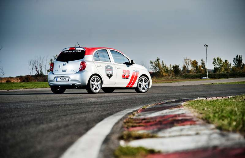 Race-ready and modified Nissan Micra S at 2015 Nissan Micra Cup.