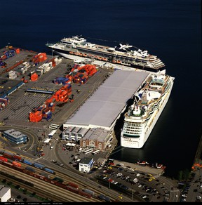 Cruise and container ships have something in common aside from size. They can pretty much navigate any pier.