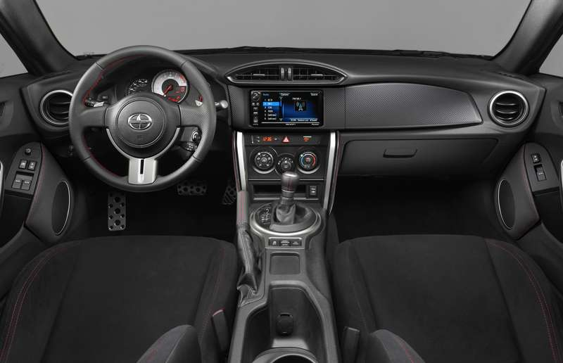 For 2016, the FR-S gains a standard back-up camera, new interior trim pieces and an eight-speaker sound system.