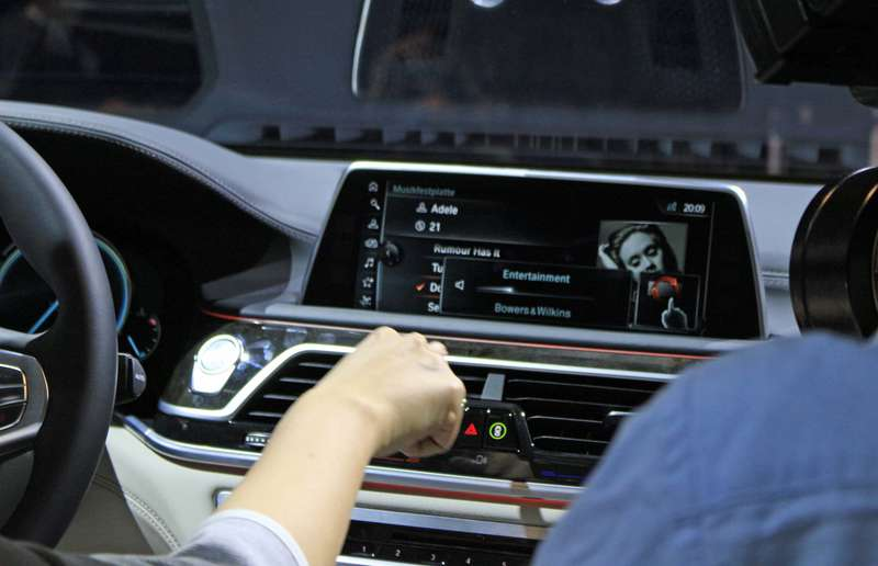 iDrive has been overhauled extensively in the new 7 Series — it now features a touch-sensitive screen and it recognizes hand gestures using a 3D camera.