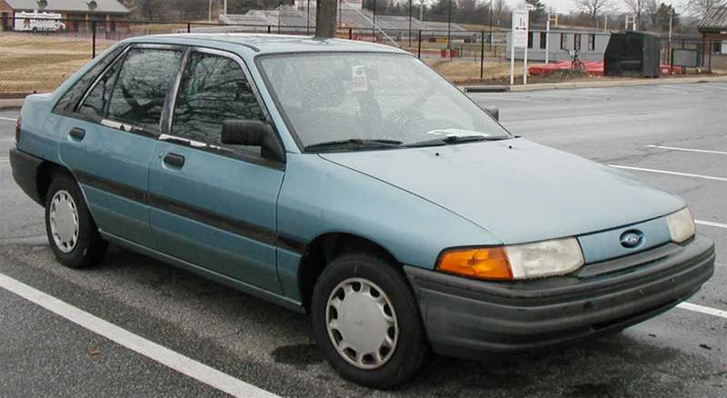 Brendan McAleer's 1991 Ford Escort, a little like this one, had an engine. It moved!