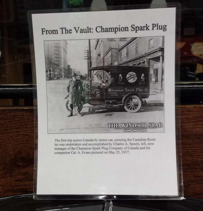 The picture that became the plan for the 1917 Ford Model T, displayed at the Canadian Transportation Museum and Heritage Village.