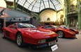 A Ferrari Testarossa and a Ferrari F40 are seen during a vintage cars and motorbikes exhibition, by Bonhams auction house, at Le Grand Palais on February 5, 2015 in Paris, France.  Vintage Ferraris are skyrocketing in value, a trend that Ferrari's upcoming stock offering could be tough to match.