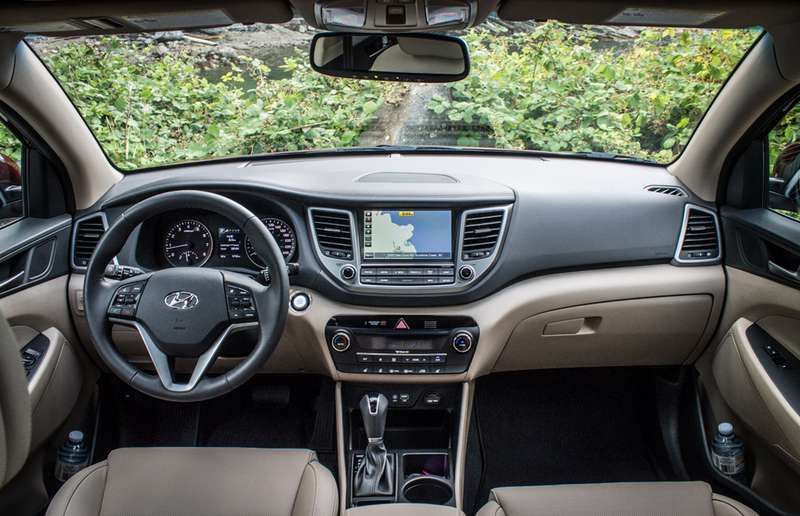 Though it's a nice place to be, the new Tucson's interior is a little more reserved than the exterior.