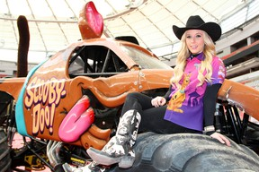 American Brianna Mahon may be tiny but the Illinois native — who's spent her life in the world of racing — is making a big name for herself behind the wheel of the Scooby-Doo monster truck.
