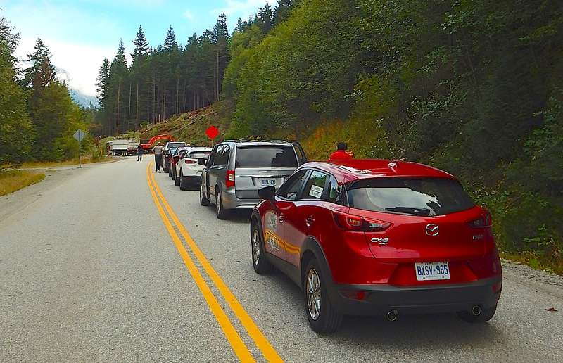 During this year's drive, we got stuck behind a logging crew for about 15 minutes. This didn't help much.