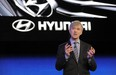 Former Hyundai Motor America CEO John Krafcik introduces the Hyundai Equus at the 2010 New York International Auto Show. He has now been appointed to lead Google's self-driving car development projects.