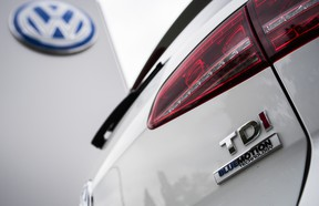 A Golf diesel car is seen at a Volkswagen dealer in Berlin on September 22, 2015.  Volkswagen's $14.7 million emissions scandal settlement has just been approved in the U.S.