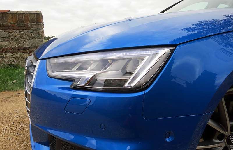 Our A4s were fitted with Audi's matrix-beam headlights, which aren't available in North America.