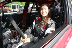Now armed with a racing license, 20-year old rookie driver Ashley Sahakian hopes to make a career behind the wheel of a race car.