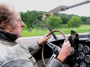 Motorbooks' founder Tom Warth at the wheel of his 289 Cobra, which he bought in 1974 and sold in 2013.