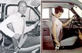 Three-point seatbelt inventor Nils Bohlin is pictured, left