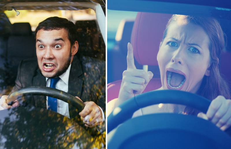 These are the faces angry drivers make – really!?