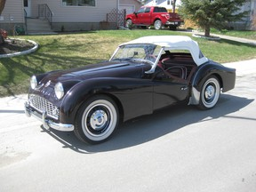 This beautifully restored 1959 Triumph TR3-A sports car was purchased by Rick Burgess 49 years after he had originally sold it in Victoria.