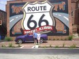 Rob and Tracie Lloyd with their 2004 Chevy SSR on Route 66,