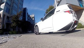 The Solo on the roads of Vancouver during its first ever road test by a journalist.