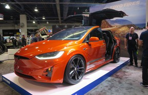 There were even a few customized Tesla models, including this Model X in Toyo Tires' booth
