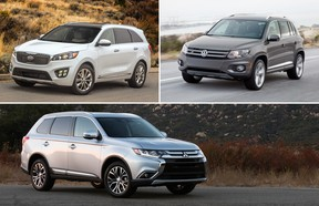 Looking for a Black Friday deal on new wheels for the family? Look no further than the Kia Sorento, Mitsubishi Outlander and VW Tiguan.