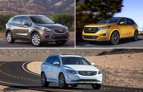 2017 Buick Envision, 2016 Ford Edge Sport, 2016 Volvo XC60