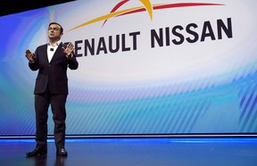 Nissan Chairman and CEO Carlos Ghosn delivers a keynote address at CES 2017.