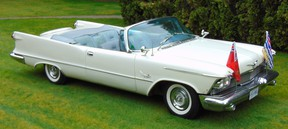 The magnificent 1958 Imperial Crown convertible dedicated to the BC Centennial Royal Tour that carried Princess Margaret through the province 59 years ago.