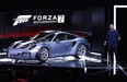 The 2018 Porsche 911 GT2 RS is introduced along with Forza Motorsport 7 during the Microsoft XBox E3 briefing at the Galen Center on June 11, 2017 in Los Angeles, California.