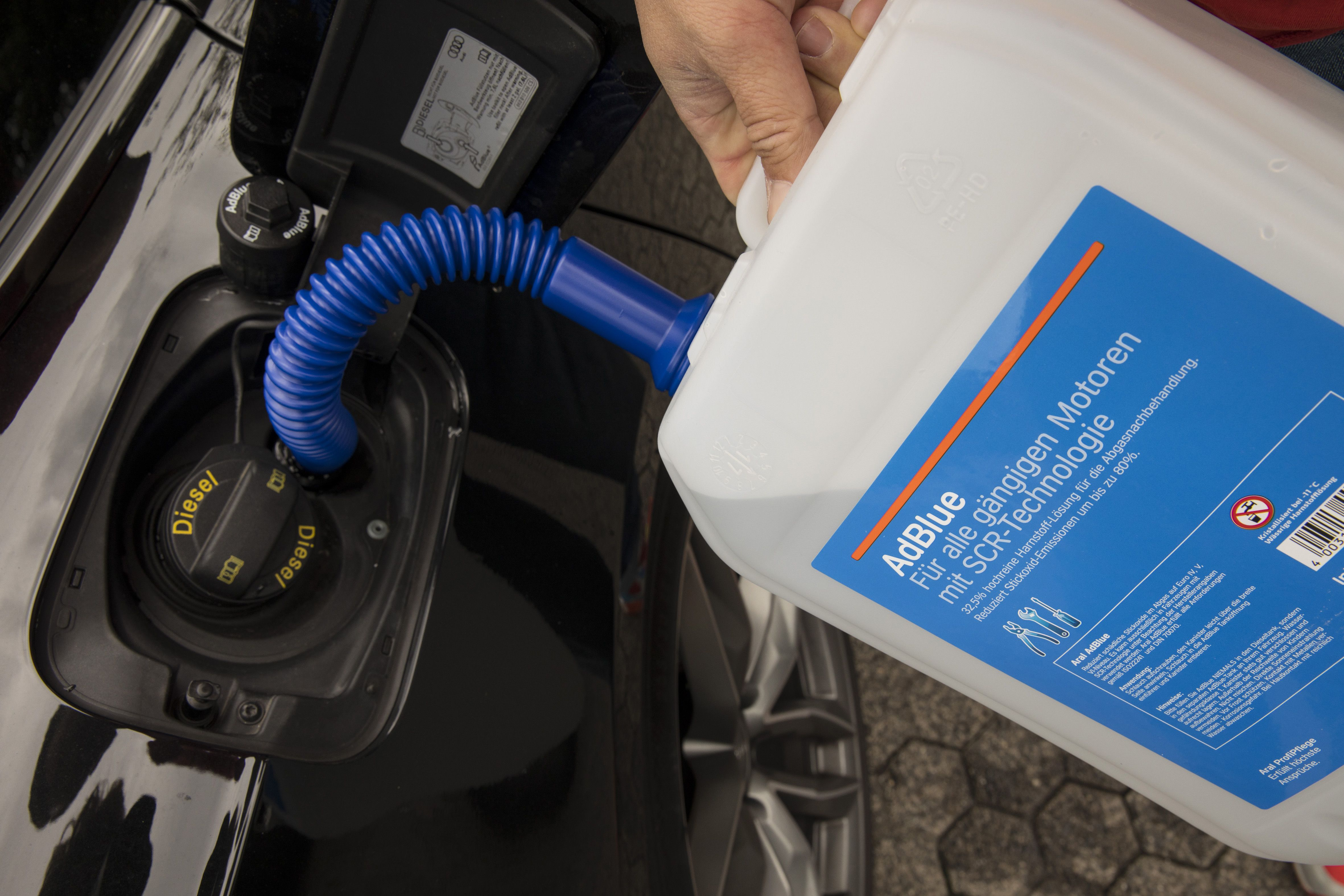 Audi Emission Testing And AdBlue Pollutant Neutralizing Fluid Refilling As Allegations Of Diesel Cheating Collusion Grow