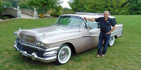 Steve Plunkett with his 1958 Buick Century Cabellero – one of seven vehicles he will display at the Cobble Beach Concours d'Elegance in Ontario on Sept. 16 and 17.