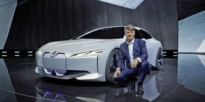 BMW board chairman Harald Krüger in front of the iVision Dynamics at the 2017 Frankfurt Motor Show.