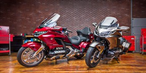 The 2018 Honda Gold Wing Tour and Gold Wing.