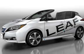 The 2019 Nissan Leaf Open Car one-off convertible.