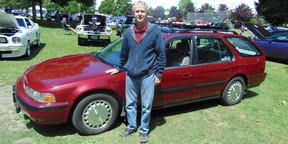 Roy Thomson with his restored 1991 Honda EX–R station wagon which is regularly displayed at collector car shows.