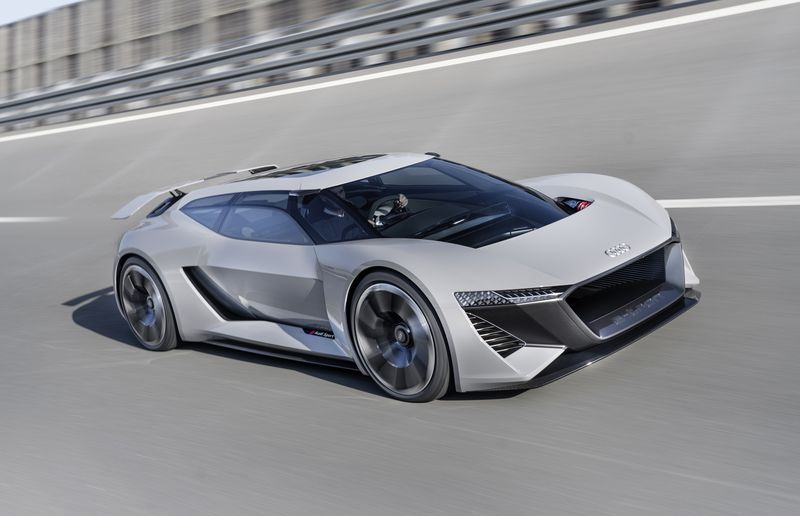 Race-car power, centre-seat driving in the Audi PB18 e-tron concept
