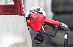 A gas pump is shown at a filling station in Montreal.
